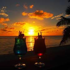 Sundowners in paradise