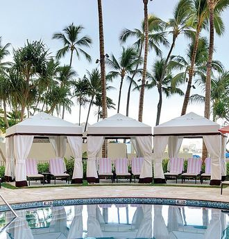 Pool Cabana at The Royal Hawaiian