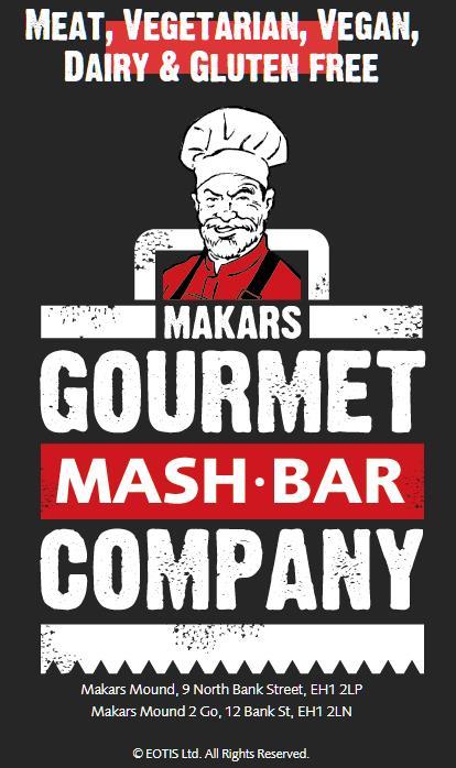 Lunch at Makars Gourmet Mash Bar, Edinburgh Scotland
