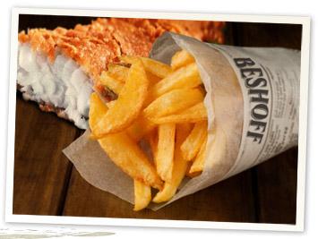 Fish & Chips at Beshoff Bros, Dublin Ireland