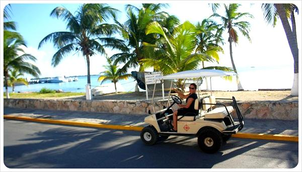 Golf Cart on Isla Mujeres