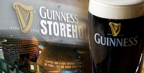 Lunch in Dublin and Guinness Storehouse