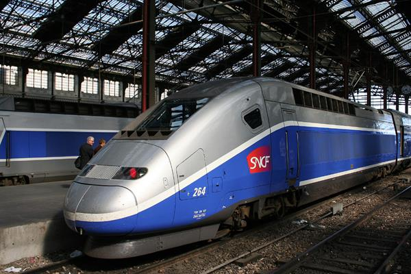 Train Ride in Paris