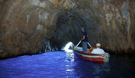 A boat ride around Capri and to the Blue Grotto