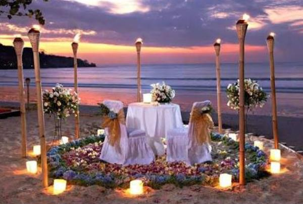 Romantic Dinner at Mexican Resort on first night