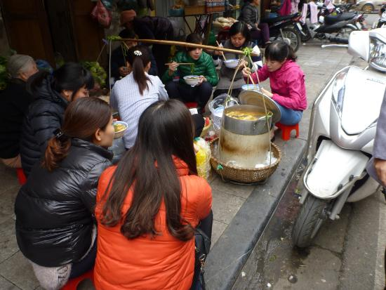 Motorcycle Street Food tour in Hanoi, Vietnam
