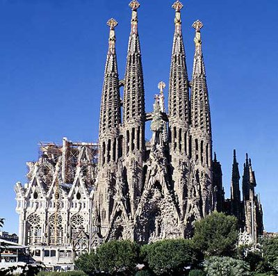 Entrance to Basilica De La Sagrada Familia - Top Views