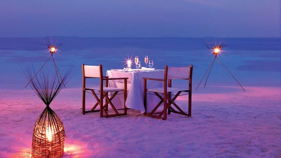 Dining on the Sand