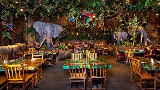Dinner - Rainforest Cafe - Downtown Disneyland
