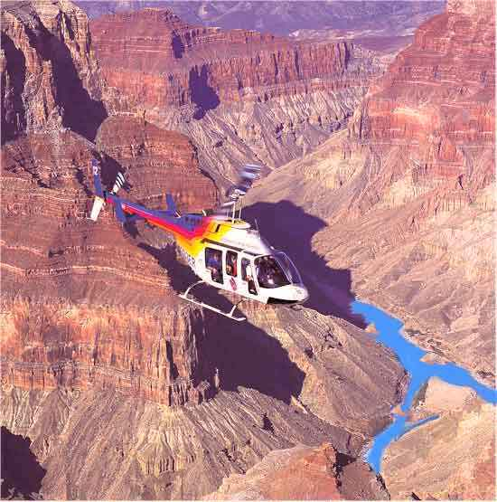 Helicopter tour around Grand Canyon