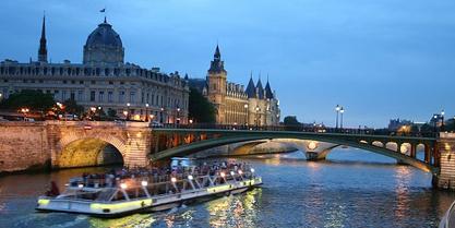 Seine River Cruise, Bus Tour & Champs Elysées Dinner