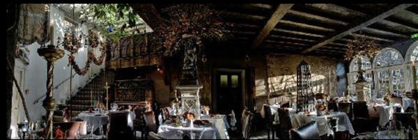 Dinner in the Secret Garden at the Witchery by the castle