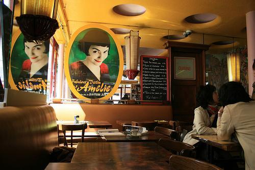Coffee at Café des 2 Moulins: Amélie's Café, Montmartre