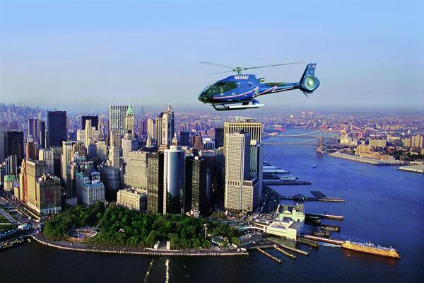 Helicopter Flight through the Big Apple