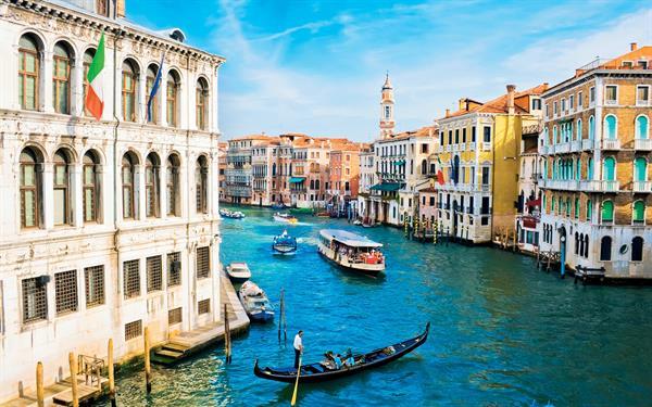 Gondola ride in Venice