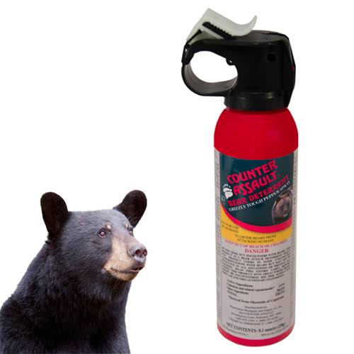 Bear safety kit - Bear Spray, whistle and bell.