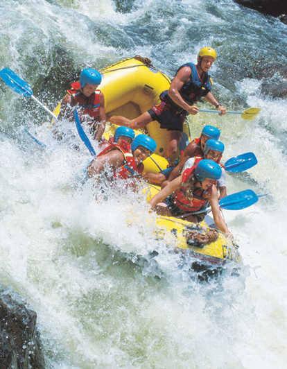 Rafting down Snake River, Jackson Wyoming