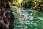 Bathing in the hot springs