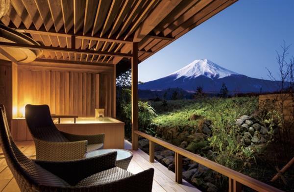 2 nights accommodation in a traditional Japanese Ryokan, overlooking Mt Fuji