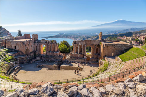 Entrance to Teatro Antico di Taormina