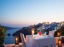 Dinner in Santorini