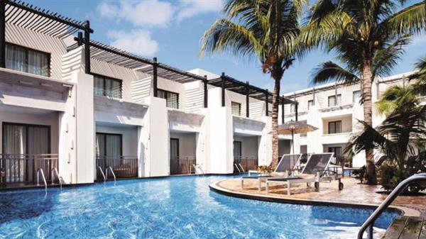 Poolside accommodation in an all inclusive resort