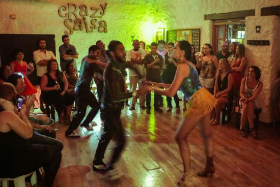 Salsa dancing in Cartagena