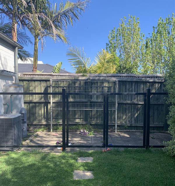 Finally finishing the washing line fence