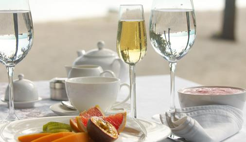Late champagne breakfast for two