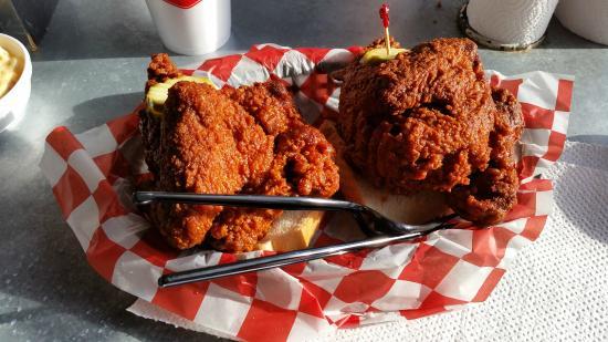 Chicken, Waffles & Beer at Hattie B's in Nashville