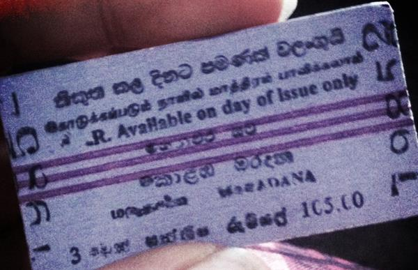 Train tickets around Sri Lanka