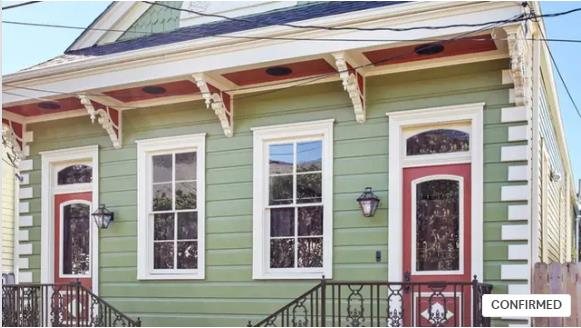 "4 nights accomodation in a historic New Orleans ""Shotgun"" house"