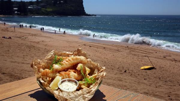 Fish and Chips at Middleton Beach!