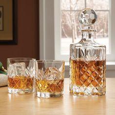 Crystal whiskey tumblers set