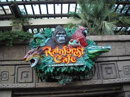 Rainforest Cafe Meal for two