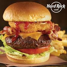 Hard Rock Cafe meal for two