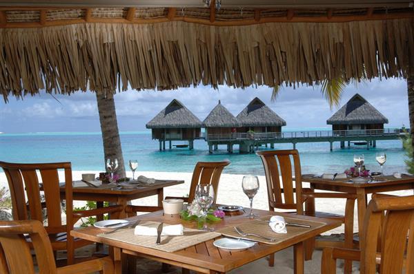 Dinner at French restaurant on Bora Bora