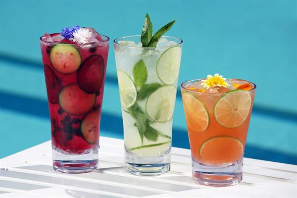 Pool-side cocktails