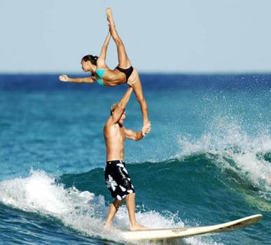 Couples surfing session (not Teahupoo)