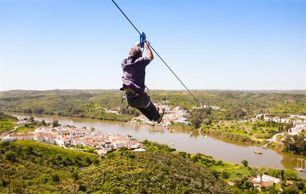 Ride the Only International Zip Line in the world