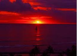 Sunset picnic on Waikiki Beach