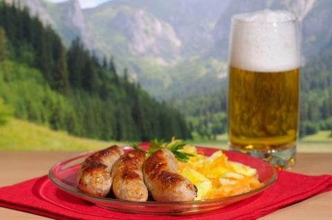 Bier und schnitzel