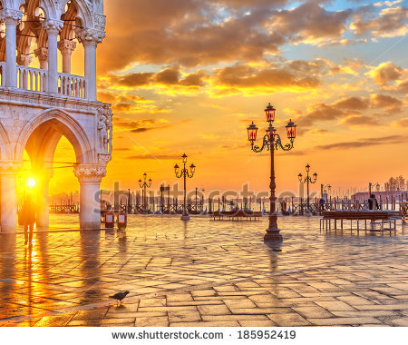 Sunrise at the Piazza San Marco