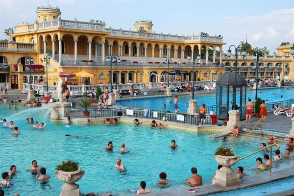 Relaxing at Széchenyi Baths