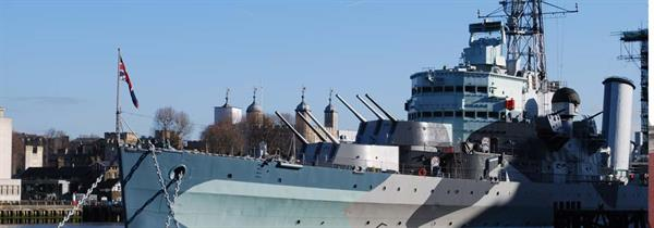 A tour of the HMS Belfast and the Imperial War Museum