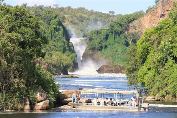 Boat safari to the Victoria Nile Delta