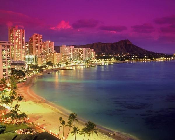 A night in Waikiki, Honolulu