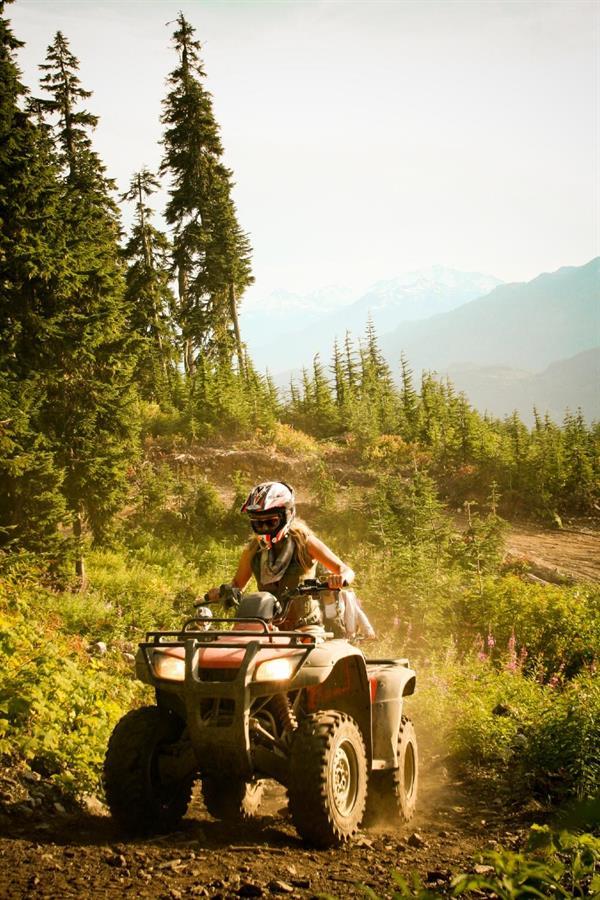 Quad bike mountain trail experience