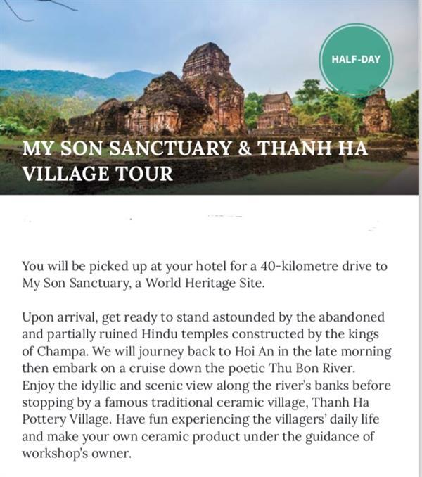 My Son Sanctuary & Thanh Ha Village Tour