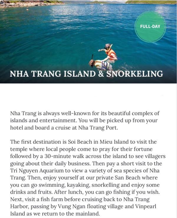 Nha Trang Island & Snorkeling